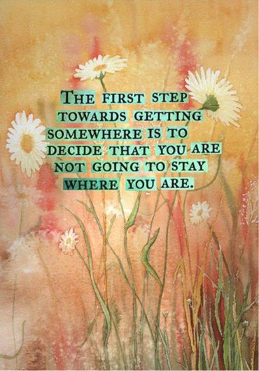 Counselling helps -- the first step is deciding that you are not going to stay where you are.